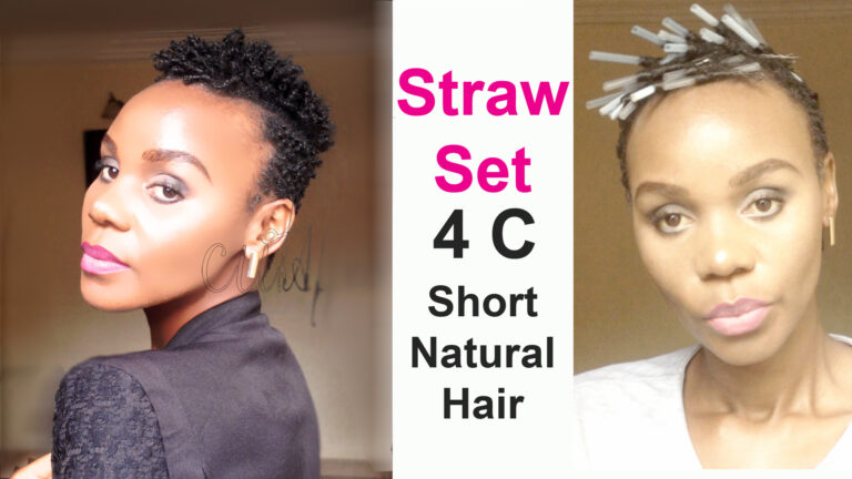 How To Straw Set on Short Natural Hair