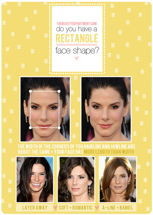 Rectangular face shapes and hairstyles