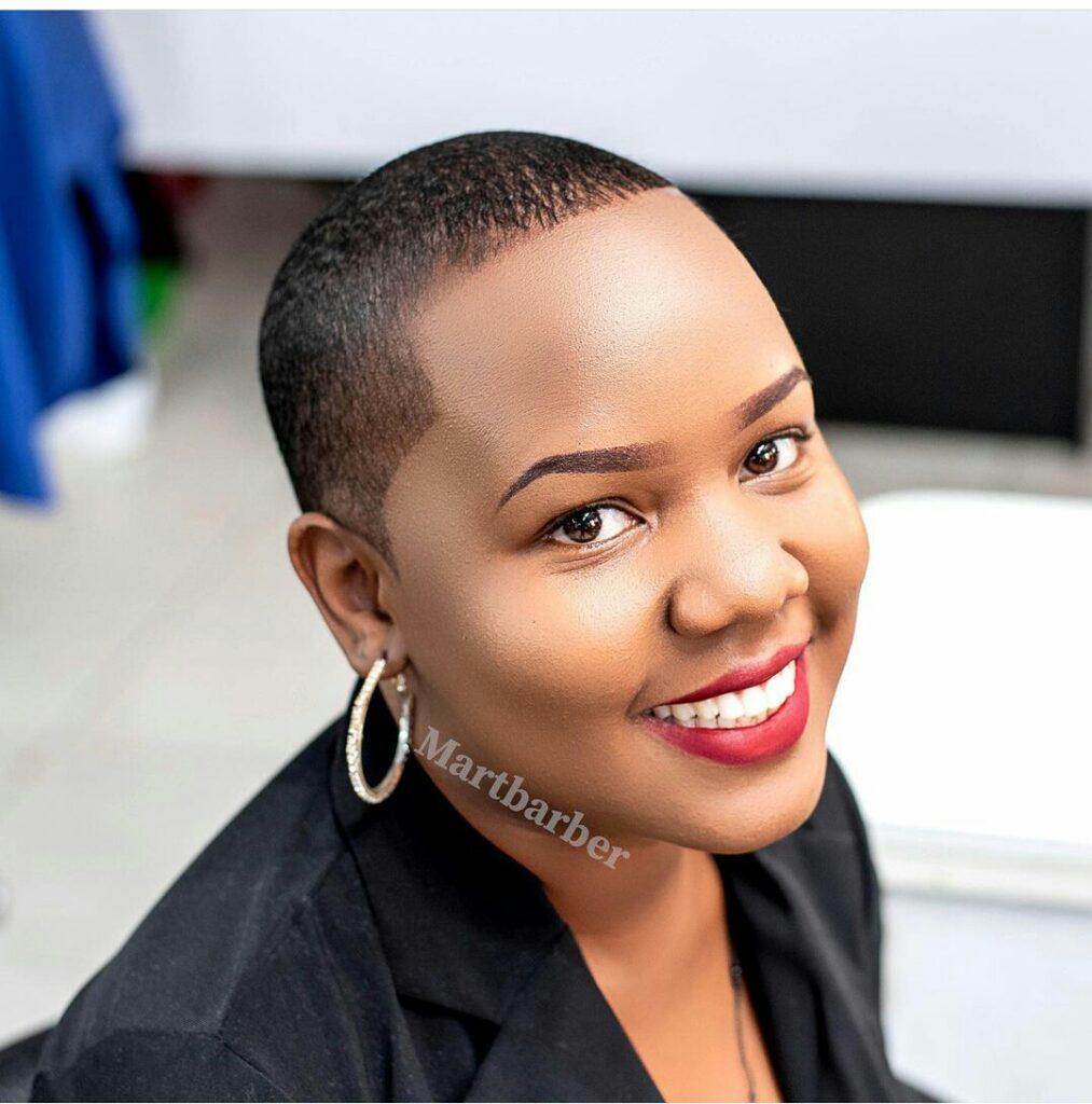 Big chop hairstyle Uganda