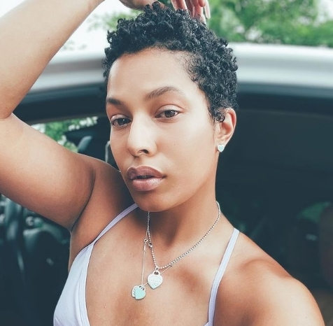 Tapered cut with wash and go
